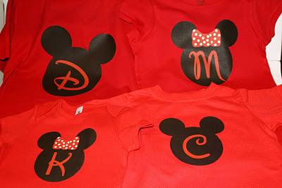 Printable heat transfer Disney t-shirts #disney - Liz on Call