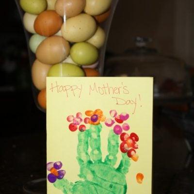 Hand Print Flower Card