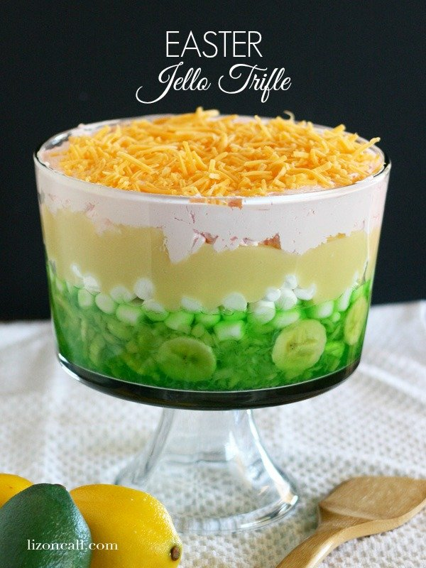 Easter jello trifle - yummy for Easter dinner