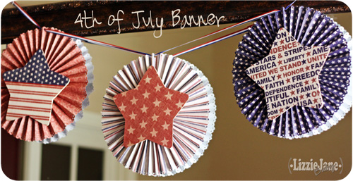 4th of July paper medallion banner #4thofJuly