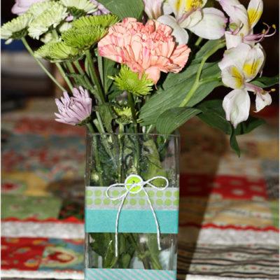 Washi Tape Vase