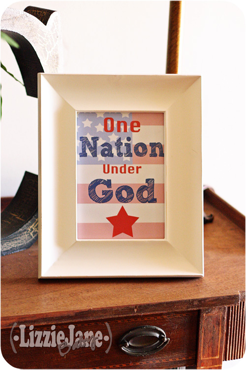 One nation under God free printable