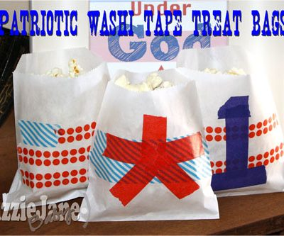 Patriotic Washi Tape Treat Bags