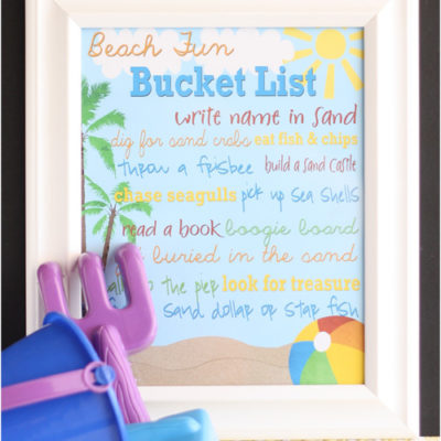 Beach Fun Bucket List