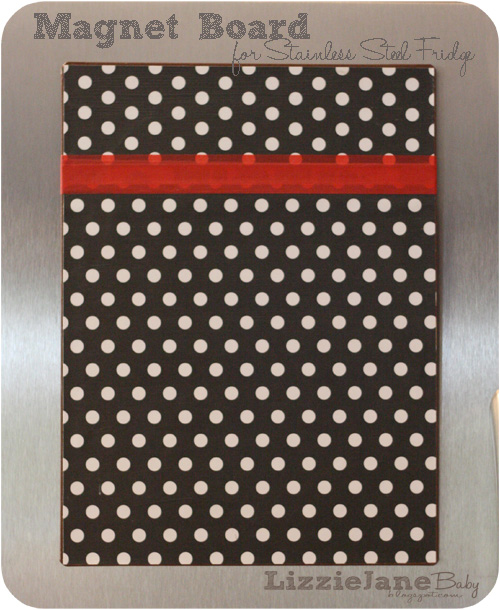 magnet board for stainless steel fridge liz on call. Black Bedroom Furniture Sets. Home Design Ideas