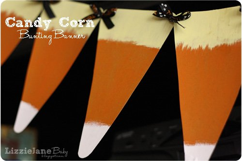 Festive candy corn banner made from a surprising craft supply #candycorn #banner #halloween - Liz on Call