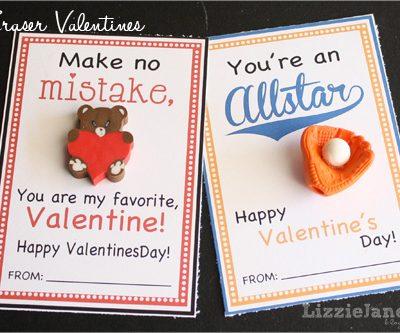 Eraser Valentines