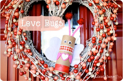 Use up those empty toilet paper tubes and make these fun Valentine's love bugs with your kiddos