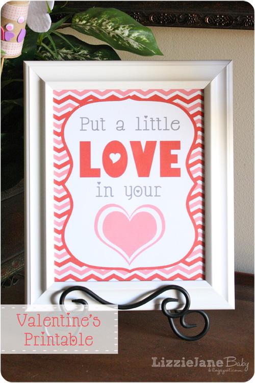 Free Valentine's Day printable - lizoncall.com