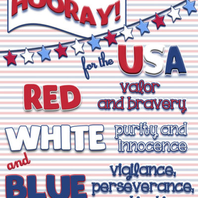 Guest Post – Hooray for the USA Print with Jillene from inkhappi