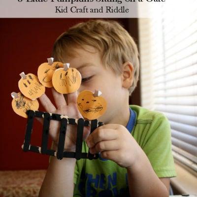 5 Little Pumpkins Finger Puppets & Song