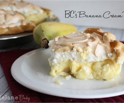 Tasty Tuesday – Banana Cream Pie