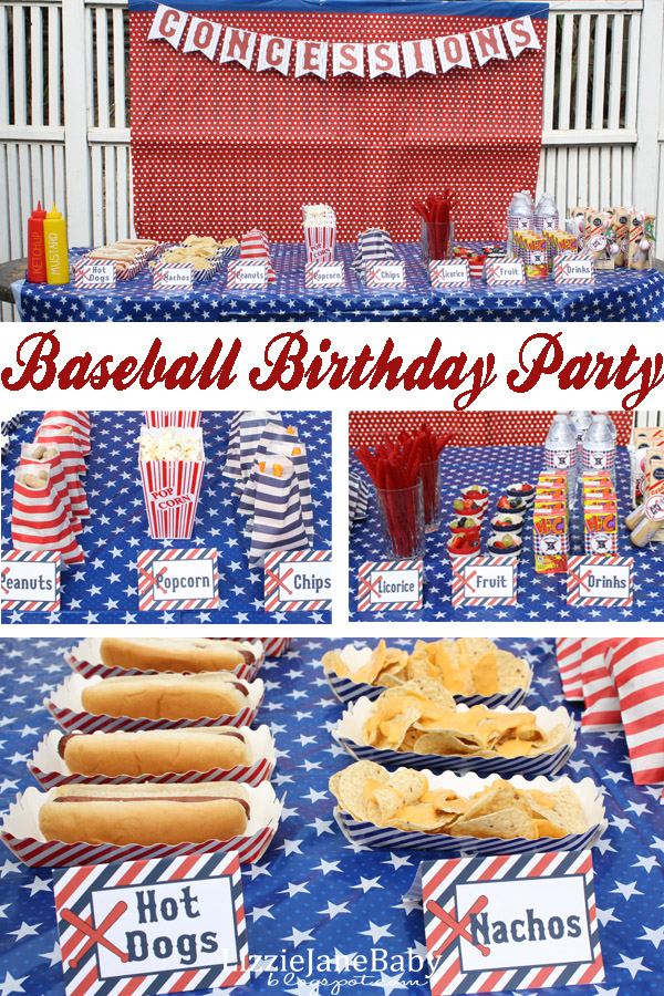 Baseball theme birthday party #baseball #birthday #party (lizoncall.com)