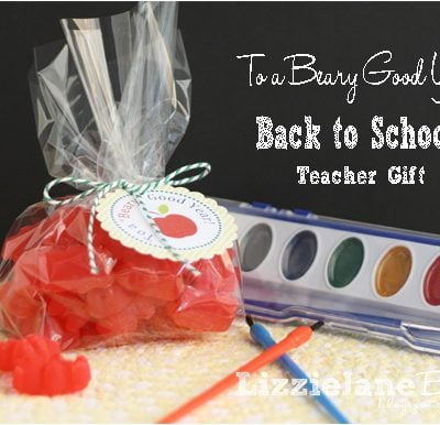 "To a ""Beary"" Good Year – Teacher Gift"