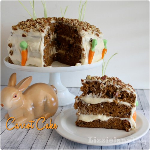made from scratch carrot cake.  great dessert for Easter dinner