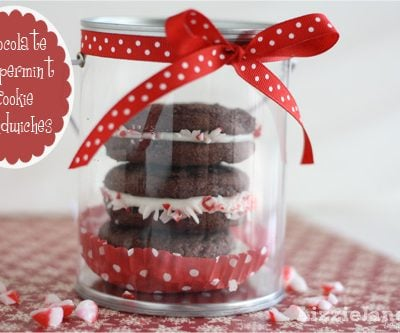 Chocolate Peppermint Cookie Sandwiches