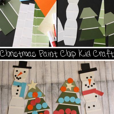 Christmas Paint Chip Kid Craft