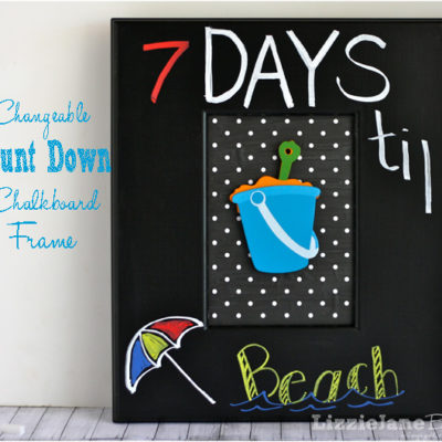 Changeable Count Down Chalkboard Frame