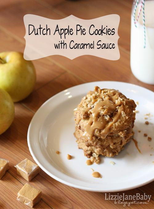 Dutch apple pie cookies with caramel sauce #cookies #applepie