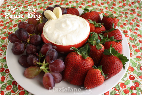 A light and fluffy fruit dip recipe.