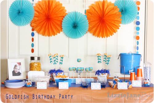 Goldfish Birthday Party #party #goldfish (lizoncall.com)
