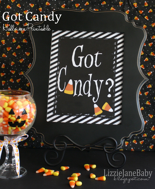 Got Candy free printable for Halloween #candycorn #halloween - Liz on Call