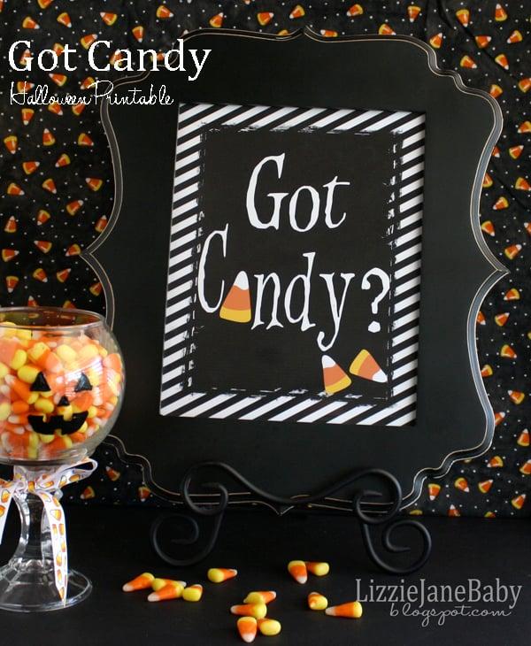 Got Candy free printable for Halloween #candycorn #halloween - Liz on Call