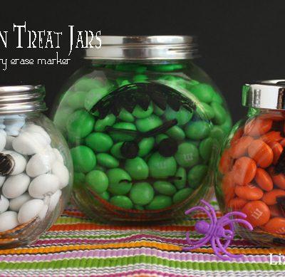 Reusable Halloween Treat Jars