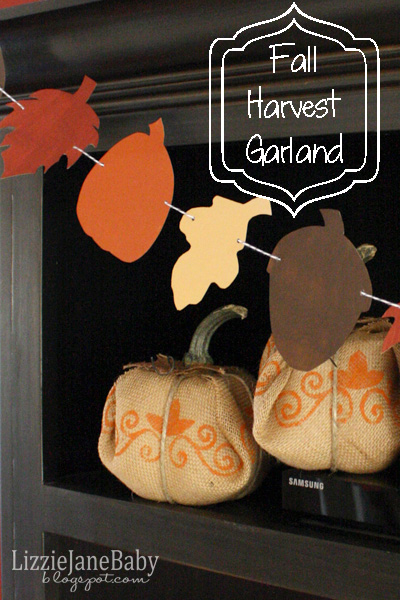 Harvest Garland banner with free template - Liz on Call