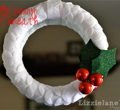 Holly Berry Felt Wreath