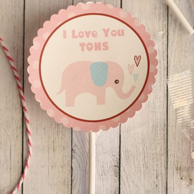 Love You Tons Valentine Tags