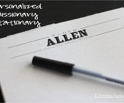 Personalized Stationary Notepad
