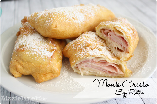 If you love the monte cristo sandwiches from Disneyland, you gotta try these Monte Cristo egg rolls - lizoncall.com
