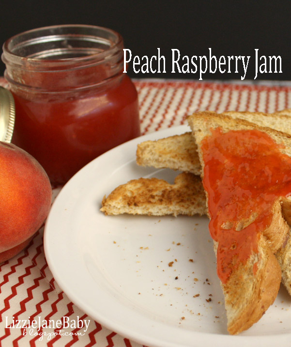 peach raspberry jam - cooked to store on pantry shelf - #peachraspberry #jam - Liz on Call