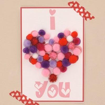 Pom Pom Heart Kid Craft Printables