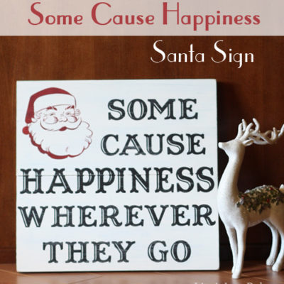 Painted Santa Sign
