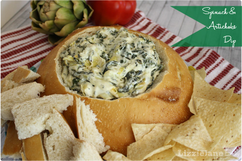 Easy and delicious Spinach Artichoke Dip - lizoncall.com