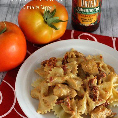 Sun Dried Tomato Chicken Alfredo – #15MinuteSupper