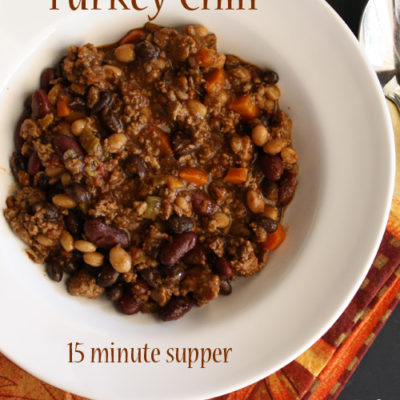 Turkey Chili #15MinuteSuppers