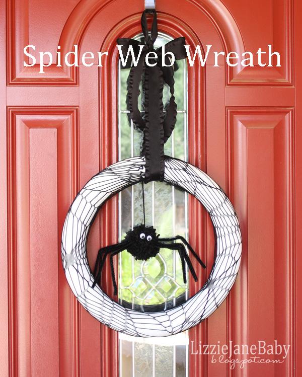 Fun, spooky spider web wreath.