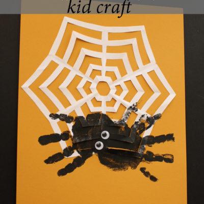 Hand Print Spider & Paper Web – Kid Craft