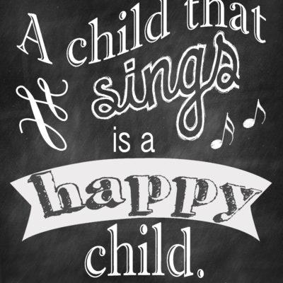 A Happy Child Free Print
