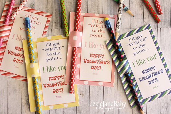 Write to the Point, candy free valentines for kids. perfect for classrooms and playgroups.