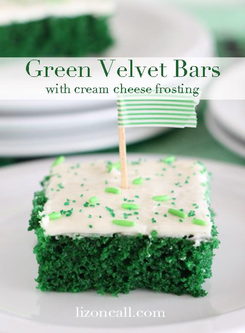 Green Velvet Cake Bars perfect St. Patrick's Day dessert