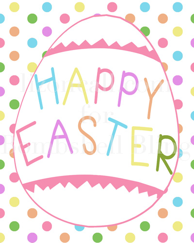 Hilaire image for happy easter printable