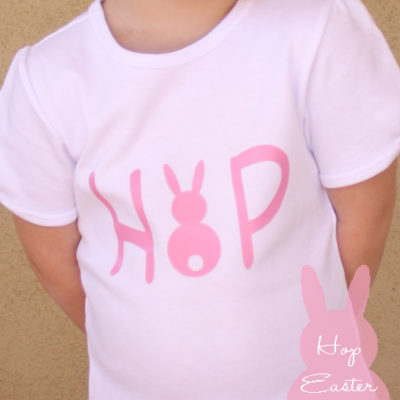 Easter Hop T-shirt using iron on vinyl