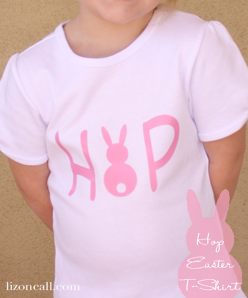 Simple Easter t-shirt using iron on vinyl - tutorial