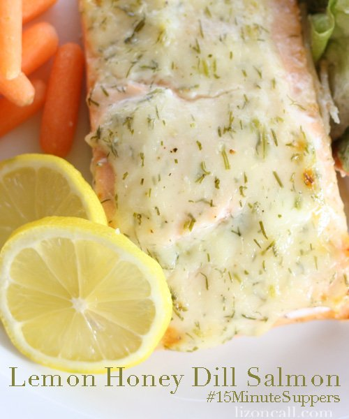 lemon honey dill salmon - just takes 15 minutes to make! #15minutesuppers