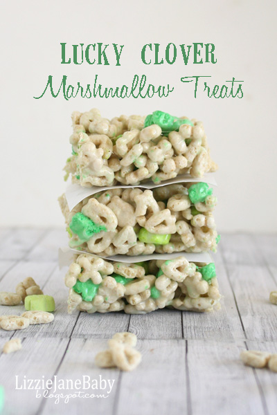 Make these lucky clover marshmallow treats for the kids or the classroom this St. Patrick's Day