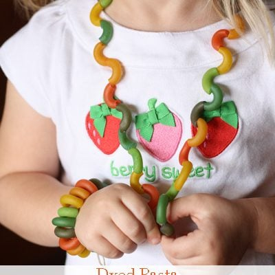 Dyed Pasta Bracelet and Necklace